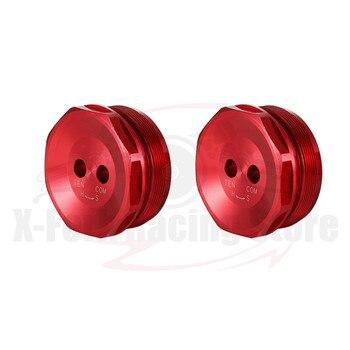 Front Fork Caps For SUZUKI GSX-R600/GSXR600 GSX-R750/GSXR750 2013-2019 2014 2015 2016 2017 2018 Hexagonal Bolts Red Screws New