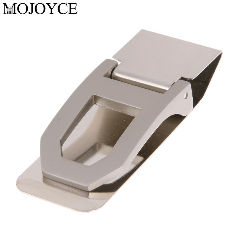 Excellent Quality Stainless Steel Money Clip Business Card Credit Card Portable Arc Hollow out Wallet Clips Name Card Folder