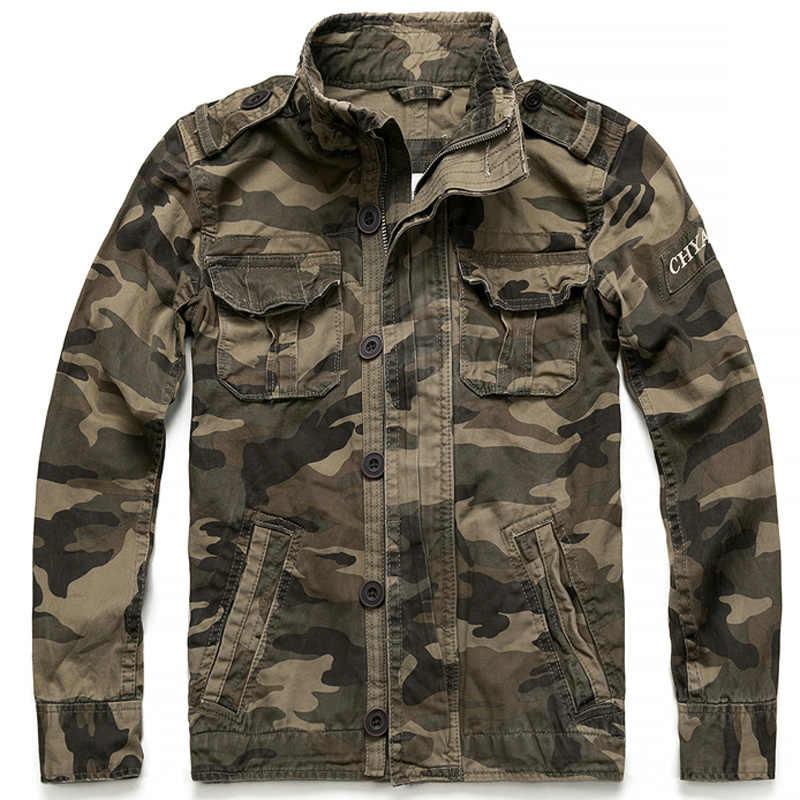 ヴィンテージ迷彩ジャケットとコートメンズカジュアル衣装服ブランドアーミーグリーンコート男性野球のジャケットアウターコート B696