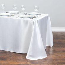 Table-Cloth Wedding-Party-Decorations Rectangle Event White Home Satin