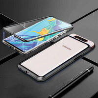 For Samsung Galaxy A80 Case 360 degrees double sided Tempered Glass Metal Case For Samsung Galaxy A80 A 80 Case Coque Fundas|Fitted Cases|   -