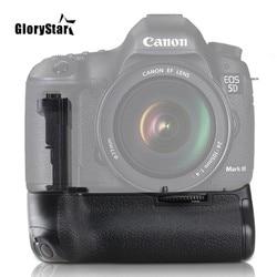 GloryStar Camera Vertical Battery Grip Holder For Canon EOS DSLR 5D Mark III 5DIII 5D3 Camera Handle Replace BG-E11 5DS R LP-E6