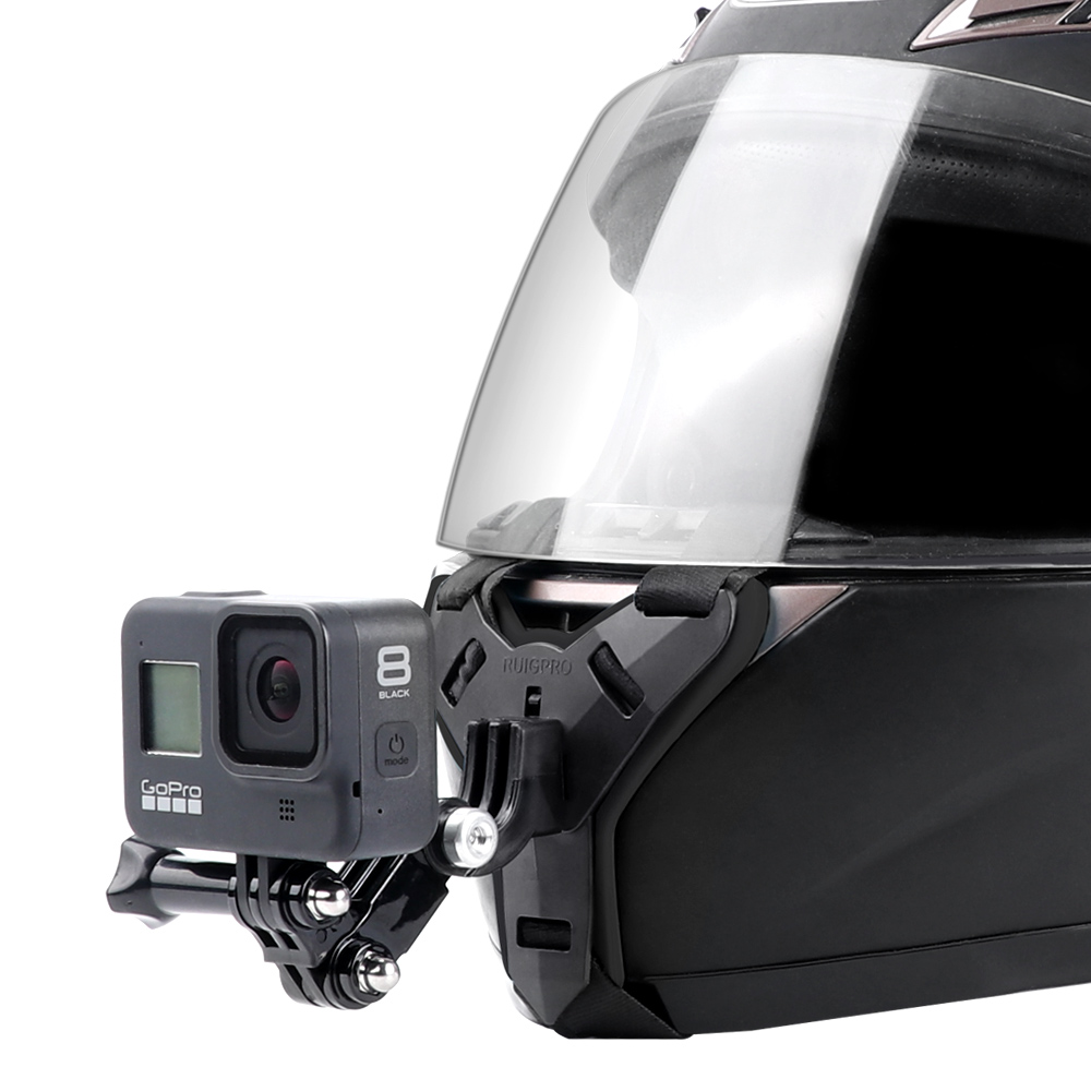 Motorcycle Helmet Chin Stand Mount Holder for GoPro Hero 9 8 7 6 5 4 3 Xiaomi Yi Action Sports Camera Full Face Holder Accessory 2