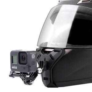 Image 2 - Mũ Bảo Hiểm Xe Máy Cằm Giá Đứng Giá Đỡ Cho GoPro Hero 8 7 6 5 4 3 Xiaomi Yi Máy Camera Thể Thao full Mặt Đựng Phụ Kiện