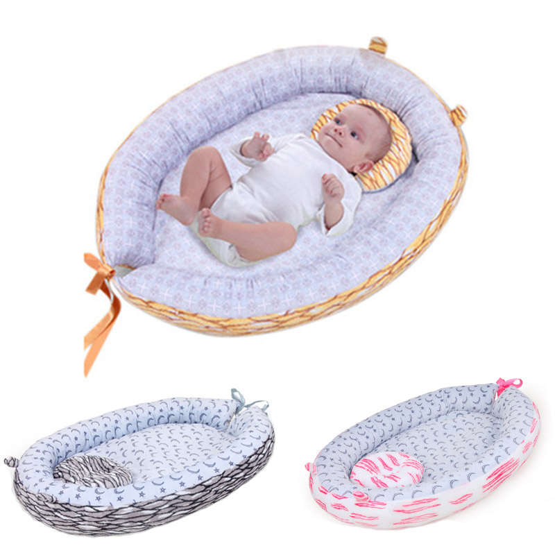 Baby Bed Removable And Washable Portable Baby Crib Baby Travel Bed Newborn Bionic Bed Foldable Baby Nest For Baby Bed Bumper