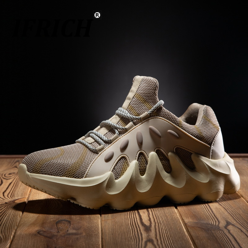 New Popular Youth Casual Shoes For Men Designer Mesh Breathable Shoes Men Casual Brand Fashion Sneakers Lace Up Boy Casual Shoes