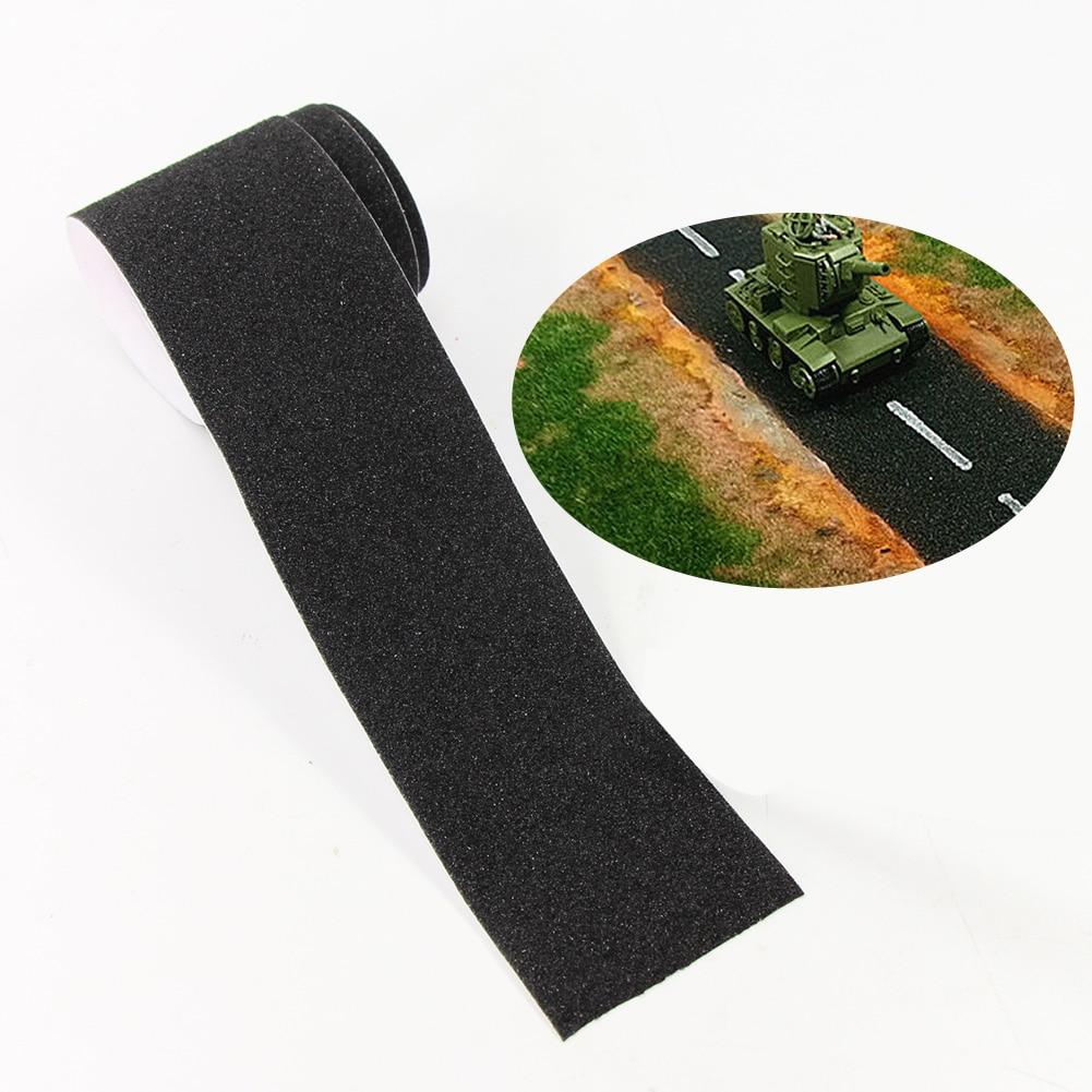 Um pacote de 5*60cm asfalto estrada adesivo que faz material diy diorama acessórios material pj13