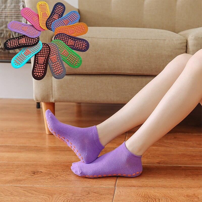 Non Slip Yoga Socks For Women Anti-Skid Pilates Anti Skid Barre Dance Fitness Slipper Socks With Grip 12Colors