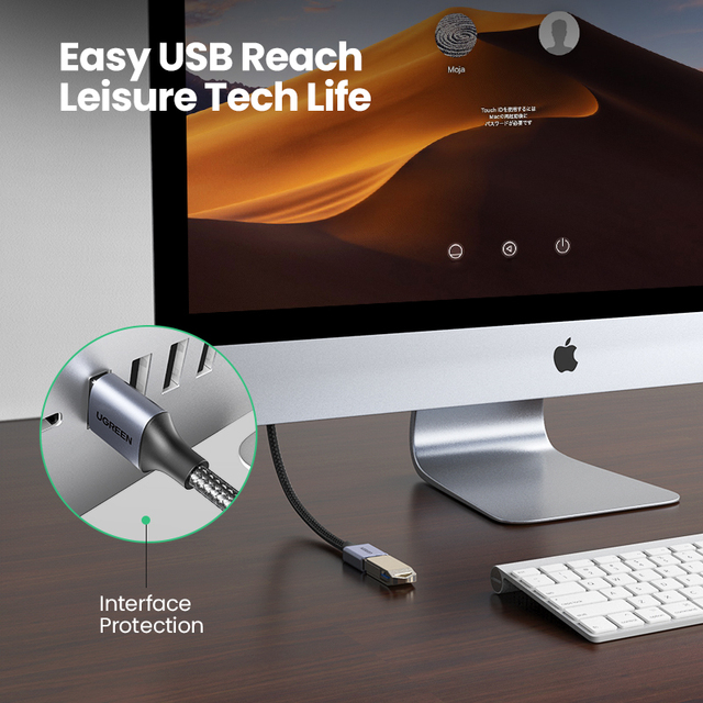 Ugreen USB 3.0 Cable USB Extension Cable Male to Female Data Cable USB3.0 Extender Cord for PC TV USB Extension Cable 3