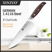 XINZUO 8 שף סכין גרמניה DIN 1.4116 נירוסטה מזויף פלדה מטבח סכיני שף של סכין מטבח המטבח סכין