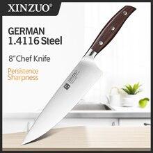 XINZUO cuchillo de Chef de 8 pulgadas, cuchillo de cocina de acero inoxidable forjado DIN 1,4116 de Alemania, cuchillo de Chef, cuchillo de cocina Gyuto