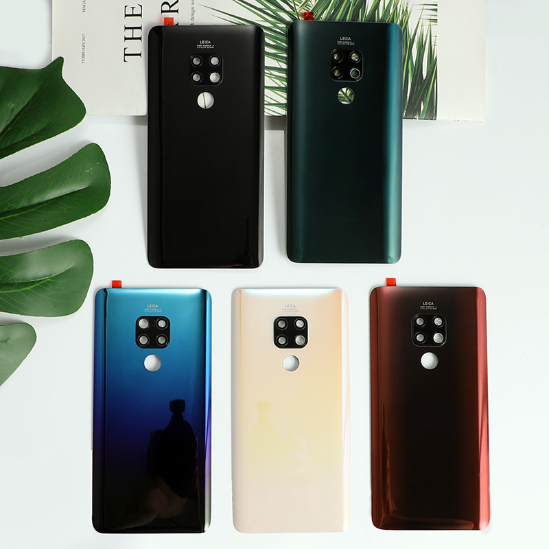 Real Back Cover For Huawei Mate 20 Mate20 Housing Glass Battery Smart Phone Door Replacement Case + Logo Carmera Glue