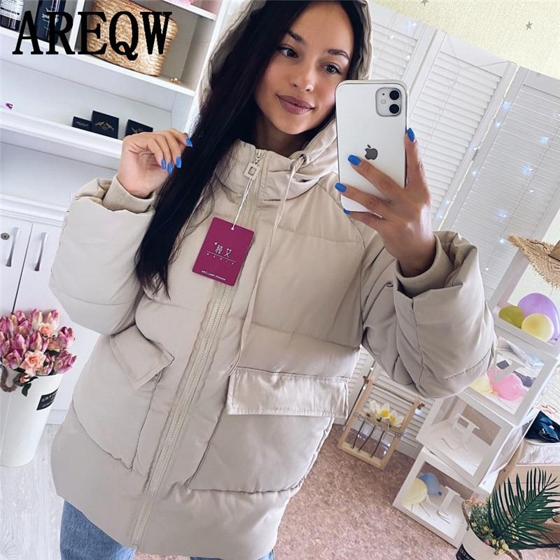 2020 Autumn Winter Cotton Parkas Oversized Coats and Jackets Womens Outerwear Hooded Puffer Jacket|Parkas| - AliExpress
