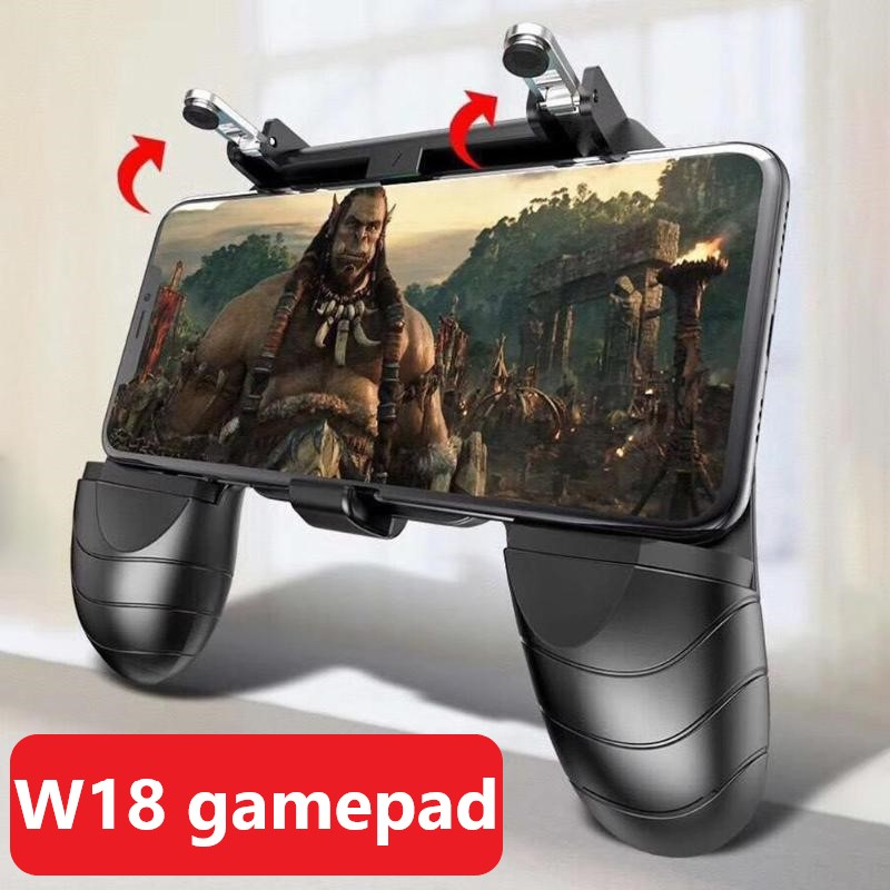 Mobile Game Console Gamepad Gaming Trigger For PUBG Fire Button Aim Key Shooter Handle Grip Controller Game Pad Joystick W18