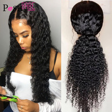 13x4 encaracolado peruca de cabelo humano com o cabelo do bebê pré arrancado nós descorados remy natural brasileiro frente do laço perucas de cabelo humano para mulher