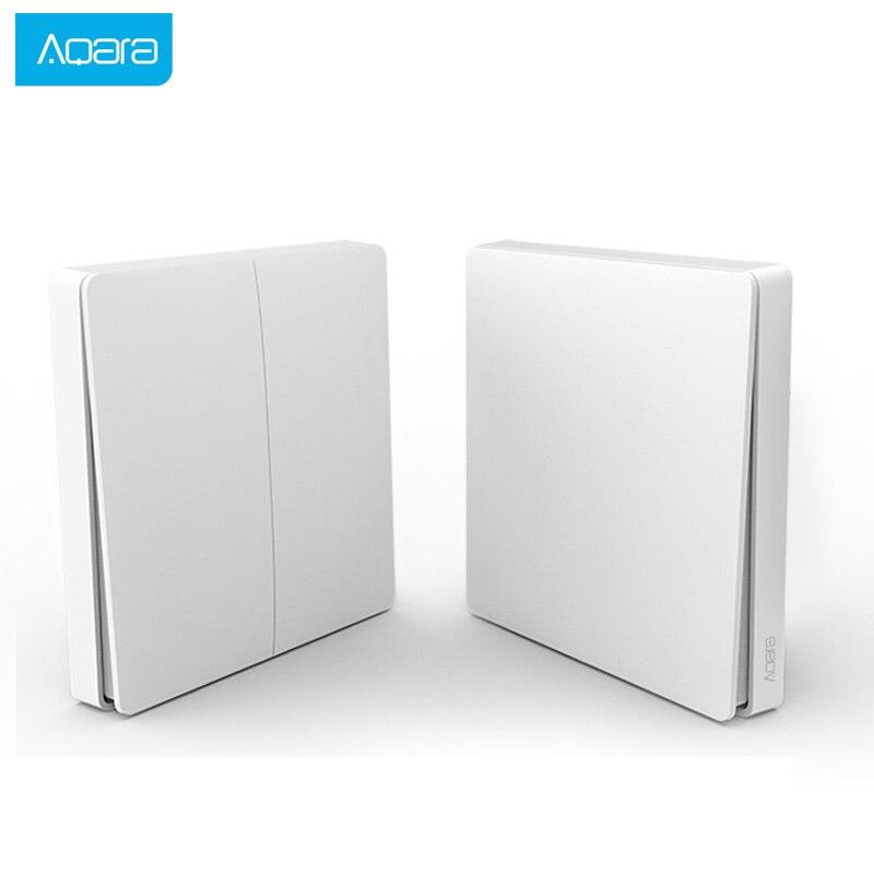 Aqara Smart Switch Smart Home Light Remote Control ZiGBee Wifi Wireless Key Wall Switch Work For Mijia Mi Home APP