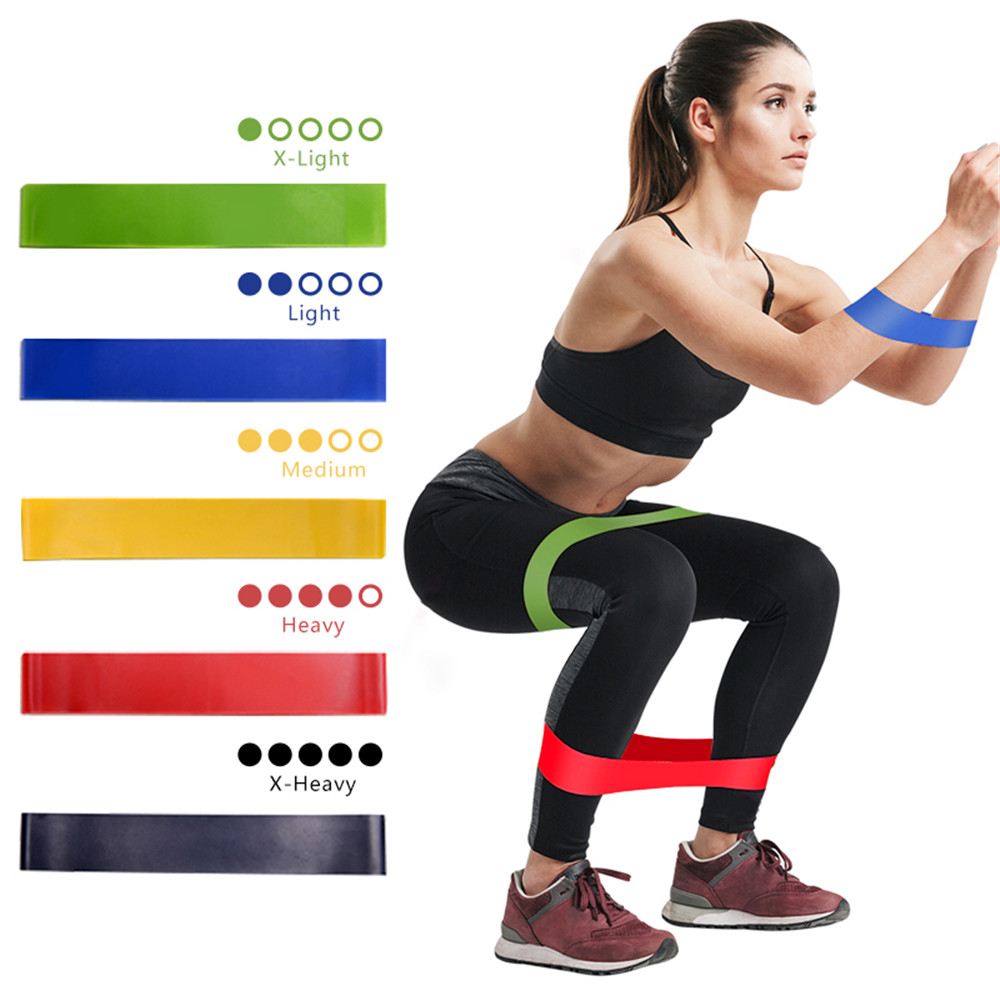 5 Colors Yoga Resistance Rubber Bands Home Gyms Fitness Equipment Pilates Sport Training Workout Loop Crossfit Elastic Bands