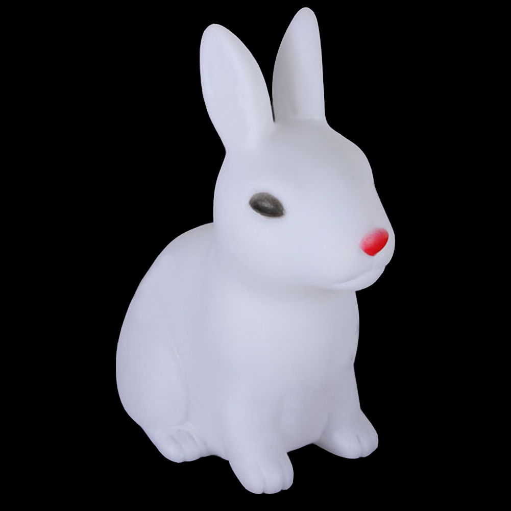 Battery Powered Cute Kids Bedroom Desktop Home Decor Colorful LED Christmas Gift Rabbit Shape Party PVC Night Light