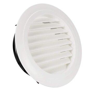 8 дюймов круглое вентиляционное отверстие ABS вентиляционная решетка крышка белый Soffit вентиляционное отверстие со встроенной сеткой для ван...