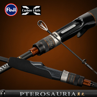 TSURINOYA Spinnerei Casting Angelrute PTEROSAURIA FUJI Guide Ringe 1,91 m 2,01 m 2,13 m 2,18 m 2,28 m Carbon hecht BASS Stange