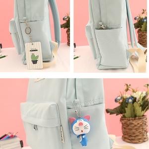 Image 4 - NuFangU Simple Design Oxford Korea Style Women Backpack Fashion Girls Leisure Bag School Student Book Teenager Useful Travel