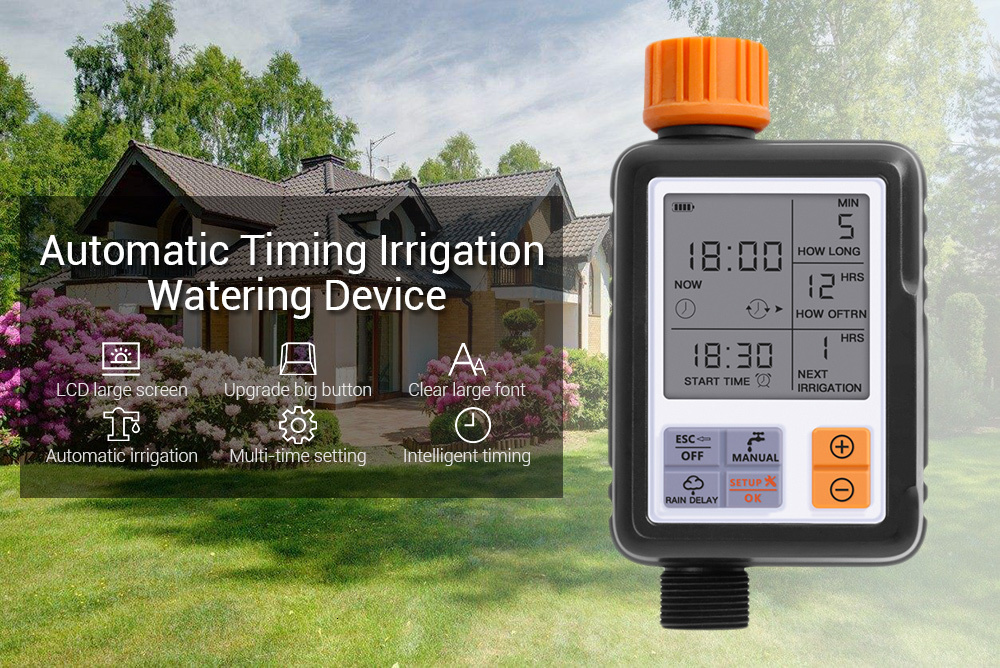 Automatic Electronic Garden Water Timers With Lcd Screen Sprinkler Controller For Outdoor Garden 6