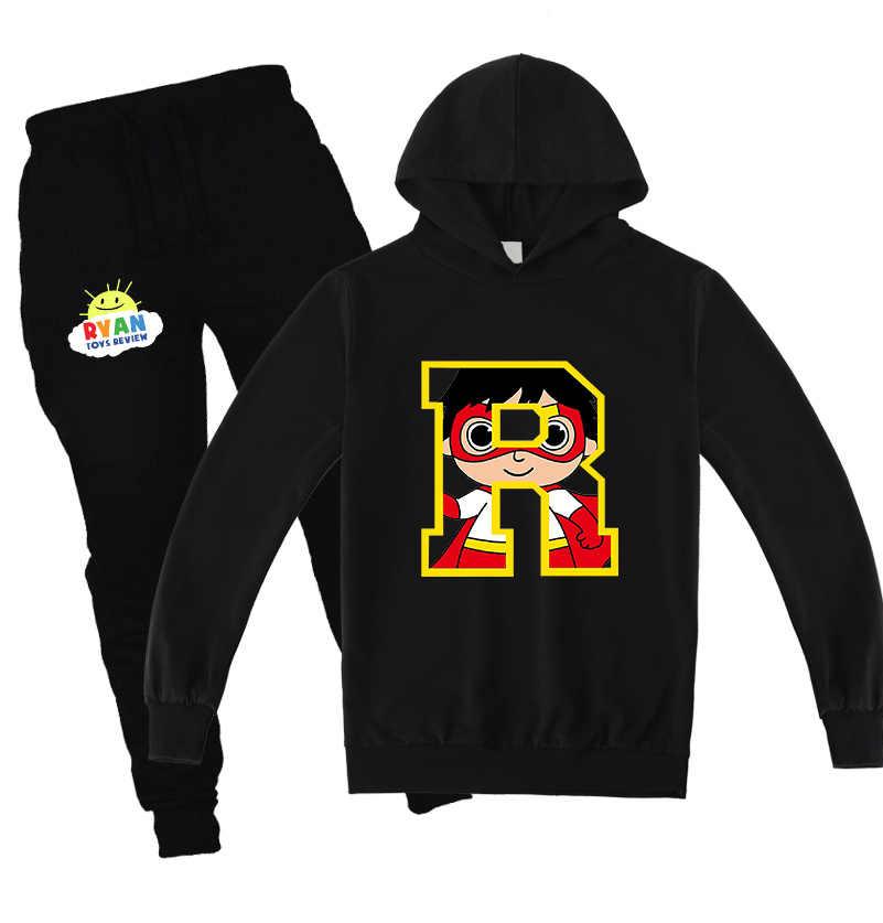 2020 Children Sweatshirt Pants 2pcs Sets Ryan Toys Review Boys Hoodies Girls Cotton Print Kids Tops Clothes Alan Walker Clothing