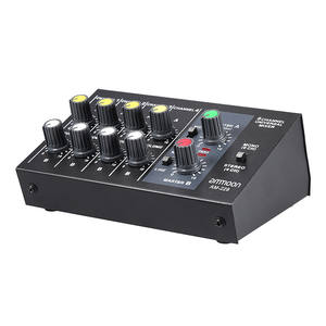 Ammoon Audio-Sound-Mixer Power-Adapter-Cable Mixing-Console Mono Metal Stereo 8-Channels