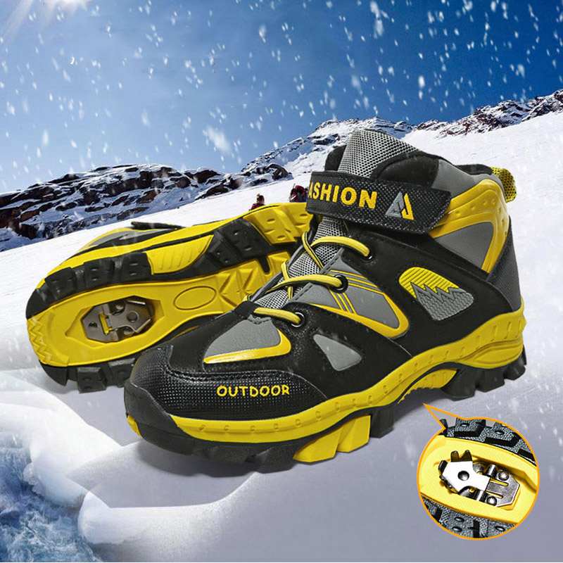 Children Outdoor Sport Hiking Boots Winter Mountain Climbing Trekking Shoes Boys Girls Waterproof Snow Ankle Boots Kids Sneakers
