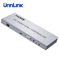 Unnlink Video Wall Controller 1 HDMI/DVI Input 4 HDMI Output 1080P 2x2 4 Images Stitching Image Processor Screen Splicing RS232