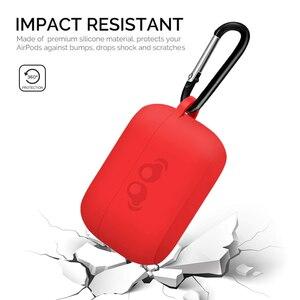 Image 3 - 2020 lançado silicone macio pele amortecedora capa protetora com chaveiro para jabra elite active 75t led traseiro visível