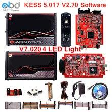 최신 레드 KESS V5.017 V2.70 V7.020 V2.25 ECU 칩 튜닝 도구 마스터 KESS 5.017 2.53 온라인 ECM Titanium WinOLS 작동