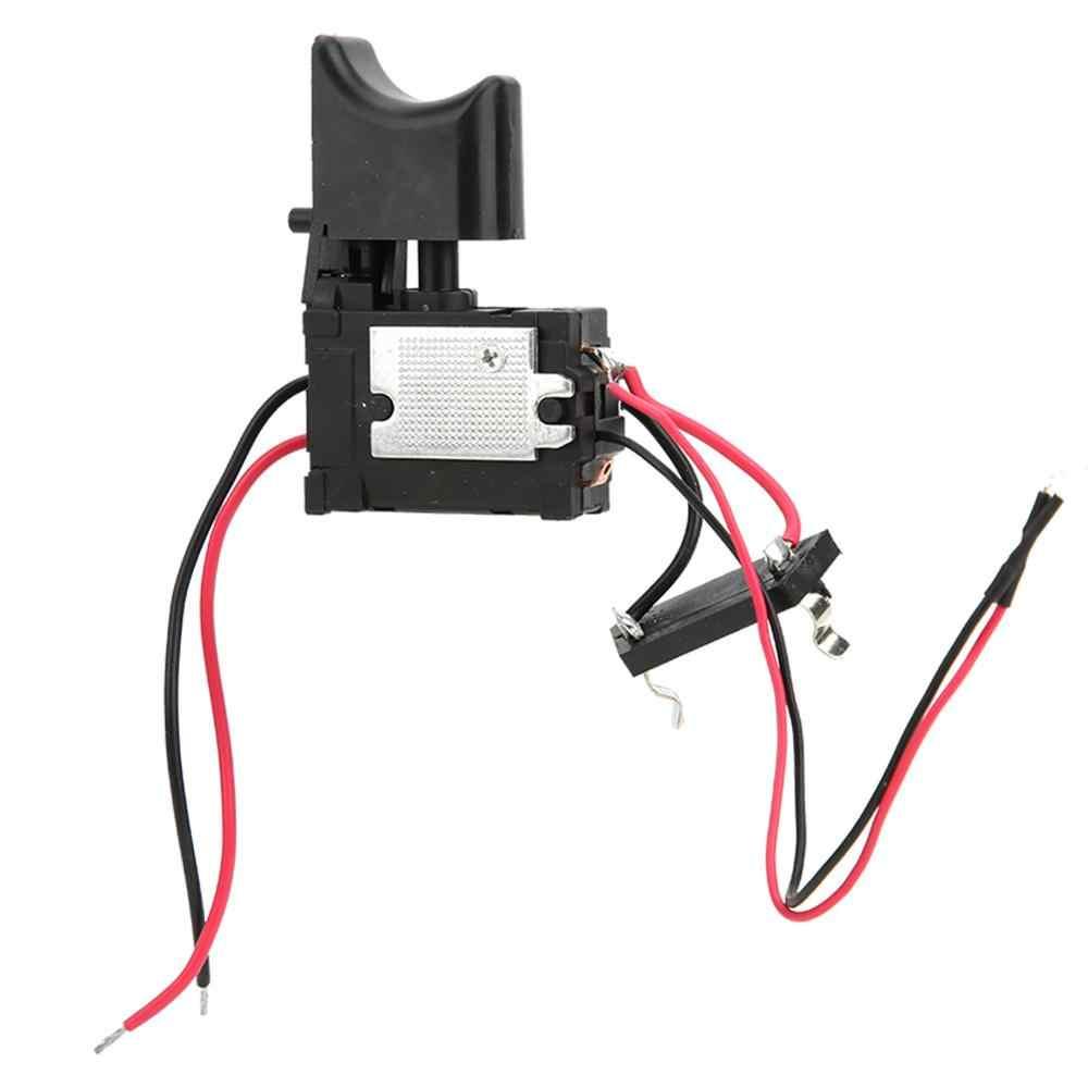 7.2 V-24 V kontrola prędkości wiertła ler wiertarka przełącznik bateria litowa wiertarka akumulatorowa kontrola prędkości spust z małym światłem