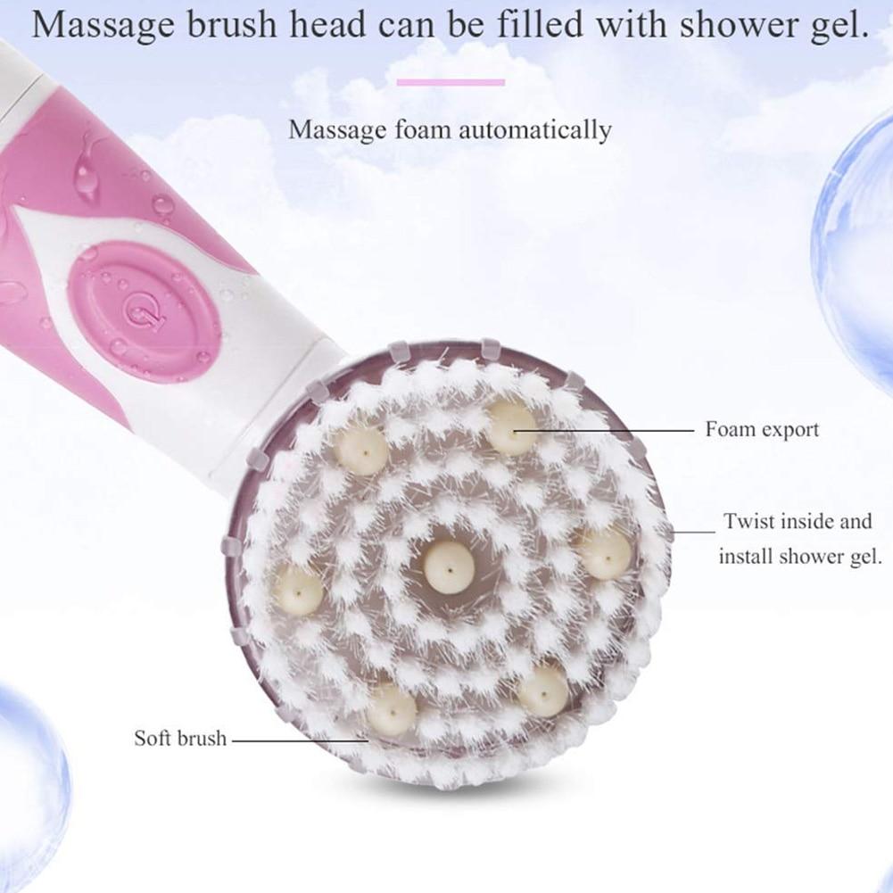 Rotação elétrica massagem escova de chuveiro banho