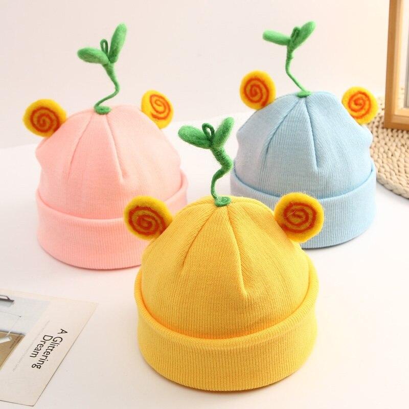 Baby Kids Cute Hat Children Cap Warm Winter Hats Knitted Wool Hemming Caps