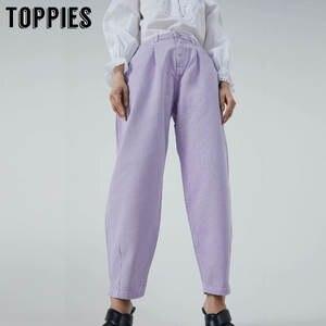 Toppies Harem Pants Jeans Trousers Women Streetwear Loose High-Waist Femme Plus-Size