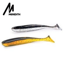 MEREDITH Wobbler Fishing Lure 5cm 7.5cm 10cm 13cm Easy Shiner Jig Swimbait Artificial Double Color Silicone Soft Bait Carp Bass