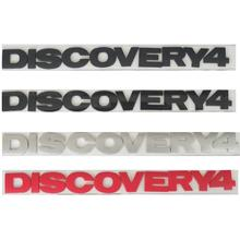 Black Red Chrome Silver Letters DISCOVERY 4 Trunk Lid Emblems Emblem Badge Sticker for DISCOVERY4 skull sward shape chrome car body sticker silver black red