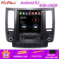 """Pantalla Vertical de KiriNavi estilo Tesla 10,4 """"1 Din Android 8,1 Radio para coche Infiniti FX FX35 FX45 reproductor de DVD para coche navegación GPS"""