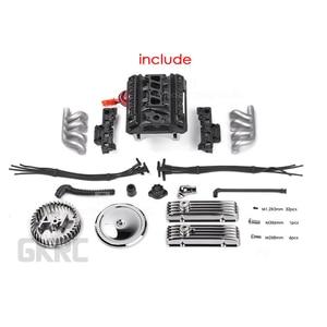 Image 2 - Rc Auto F82 V8 Simuleren Motor Motor Cooling Fans Radiator Voor 1/10 Rc Crawler Traxxas Trx4 Axiale Scx10 90046 Redcat gen8