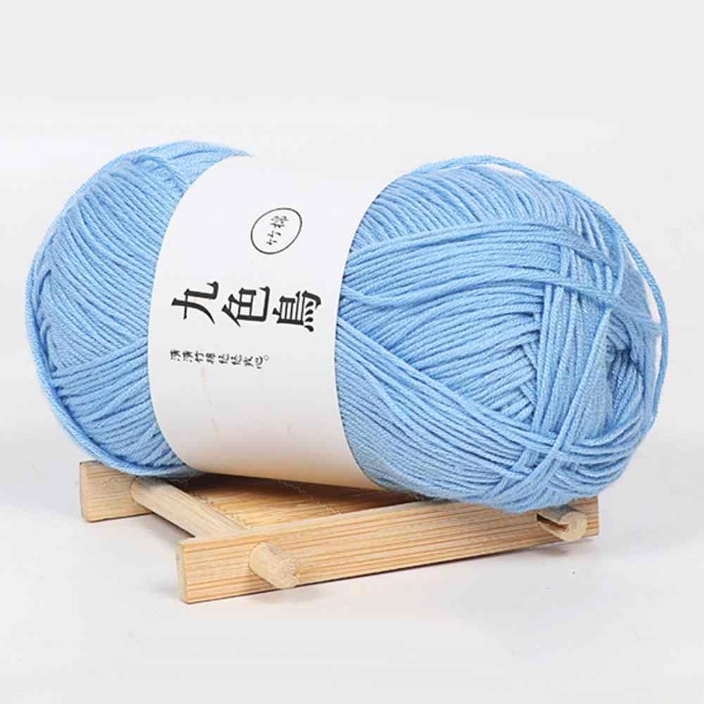 Fil de laine doux de fil de crochet mince de 50g/Roll pour tricoter des crochets de Crochet pour tricoter à la main des aiguilles de laine à la main fil acrylique bricolage couture