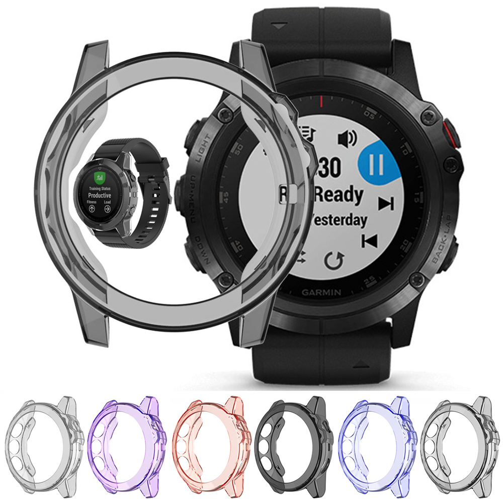 TPU Shell For Garmin Fenix 5X 5S 5 Plus Protector Soft TPU Protect Shell Slim Watch Protective Case Cover Watchband Accessories