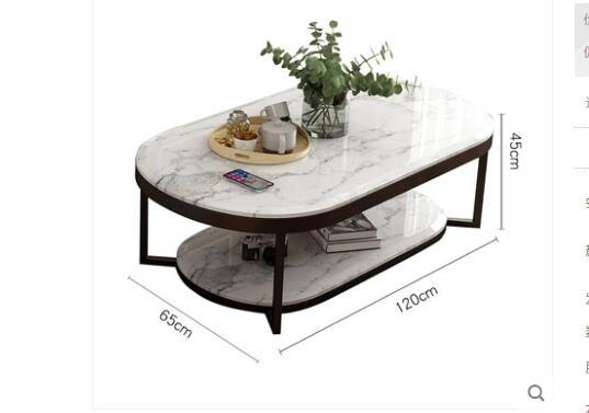 Boreal Европа Современная мраморная Настольная Ваза чайный стол сочетает в себе сокращенную эллиптическую двухслойную Настольная Ваза чайный стол гостиная в помещении - Цвет: 2