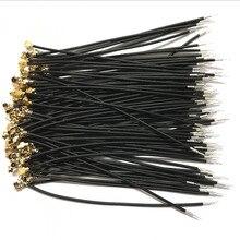 100 قطعة أسود IPX IPEX u. fl أنثى واحدة رئيس موصل 1.13 كابل 5 سنتيمتر 10 سنتيمتر 15 سنتيمتر 20 سنتيمتر 25 سنتيمتر 30 سنتيمتر IPX 1.13 مللي متر RG1.13 كابل