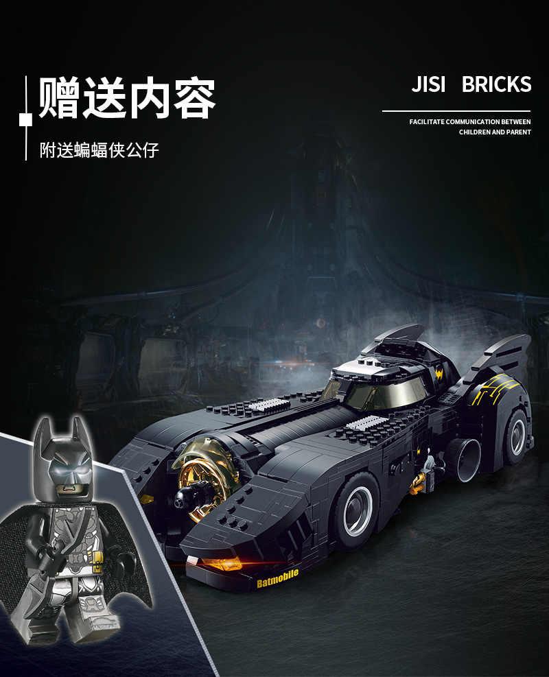 Teknik Kompatibel Legoed Mobil Ultimate Batmobile Decool 7144 Bulding Blok MOC-15506 Batu Bata Batmaned Mainan Konstruktor