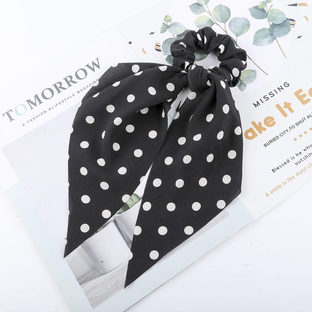 Levao fleur impression cheveux écharpe arc chouchous queue de cheval bandeau pour femmes cheveux accessoires nœud papillon élastique cheveux corde bandeaux 27