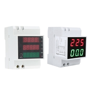 Горячая 2 шт. цифровой din-рейку светодиодный амперметр напряжения измеритель тока Вольтметр AC80-300V, 0,2-99.9A и 100A