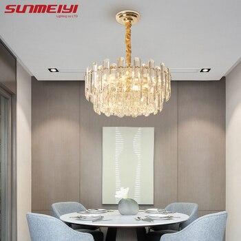 цена Modern Crystal Pendant Lights For Dining room Bar Indoor Lighting Living room decor Nordic Led Pendant Lamp Loft Hanging Lamp онлайн в 2017 году
