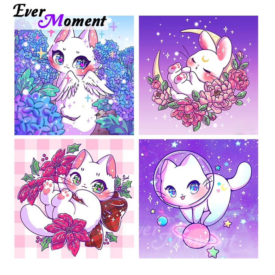 Ever Moment Diamond Embroidery Picture Of Rhinestones Cartoon Kids Crafts Decorative Paintings For Living Room Art Sets 4Y2080
