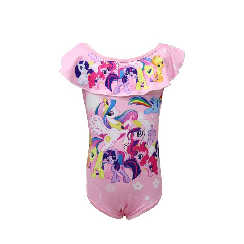 2018 Girls Baby Swimwear Horse GIRL'S Cute Hot Springs Princess Dress One-piece CHILDREN'S Swimwear 0321